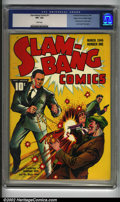 Golden Age (1938-1955):Superhero, Slam-Bang Comics #1 Mile High pedigree (Fawcett, 1940) CGC VF+ 8.5 White pages. From an overall freshness standpoint, Mile H...