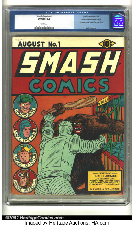 Smash Comics #1 Mile High pedigree (Quality, 1939) CGC VF/NM 9.0 White pages. A stunning key issue from the Mile High collec...