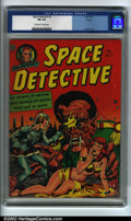 Golden Age (1938-1955):Science Fiction, Space Detective #3 Aurora pedigree (Avon, 1952) CGC FN 6.0Off-white to white pages. Here is yet another classic sci-fititl...