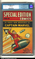 Golden Age (1938-1955):Superhero, Special Edition Comics #1 Carson City pedigree (Fawcett, 1940) CGC VF/NM 9.0 Cream to off-white pages. The first comic to fe...