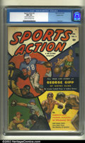 Golden Age (1938-1955):Non-Fiction, Sports Action #2 Double Cover (Atlas, 1950) CGC NM 9.4 Cream to off-white pages. How about this: a Bob Powell painted cover,...