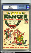 Golden Age (1938-1955):Western, Star Ranger #8 Mile High pedigree (Centaur, 1937) CGC NM 9.4Off-white to white pages. Edgar Church took care of his books, ...