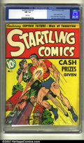 Golden Age (1938-1955):Superhero, Startling Comics #1 (Better Publications, 1940) CGC NM- 9.2 White pages. As of this writing, this is far and away the best c...