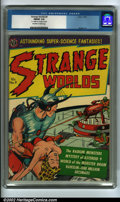Golden Age (1938-1955):Science Fiction, Strange Worlds #9 (Avon, 1952) CGC FN/VF 7.0 Off-white to whitepages. Strange Worlds is one of Avon's most popular titl...