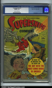 Supersnipe Comics #6 Mile High pedigree (Street and Smith, 1942) CGC NM/MT 9.8 Off-white to white pages. This is actuall...
