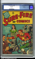 Golden Age (1938-1955):Superhero, Sure-Fire Comics #4 Allentown pedigree (Ace, 1940) CGC VF- 7.5 Off-white pages. Essentially this is issue #4, even though th...