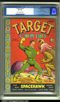 Golden Age (1938-1955):Superhero, Target Comics #7 Rockford pedigree (Novelty Press, 1940) CGC FN- 5.5 Cream to off-white pages. This early Basil Wolverton co...