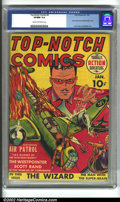 Golden Age (1938-1955):War, Top-Notch Comics #2 (MLJ, 1940) CGC VF/NM 9.0 Cream to off-white pages. One of the earliest offerings by MLJ, the publisher ...