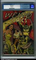 Golden Age (1938-1955):Horror, Weird Comics #1 (Fox, 1940) CGC FN+ 6.5 Off-white pages. AfterVictor Fox's setback from DC's infringement lawsuit over his ...
