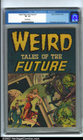 Golden Age (1938-1955):Horror, Weird Tales of the Future #1 (Aragon, 1952) CGC VF- 7.5 Off-whitepages. Basil Wolverton is credited with doing part of this...