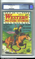 Golden Age (1938-1955):Western, Western Picture Stories #1 Mile High pedigree (Comics Magazine,1937) CGC VF+ 8.5 White pages. White pages are so rare in a ...