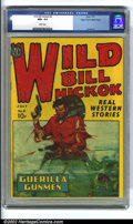 Golden Age (1938-1955):Western, Wild Bill Hickok #4 Mile High pedigree (Avon, 1950) CGC NM+ 9.6White pages. Here is an incredible Western-themed comic, in ...