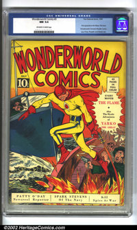 WonderWorld Comics #3 (Fox, 1939) CGC NM 9.4 Off-white to white pages. A true classic from the 1940s, featuring the firs...