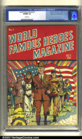 Golden Age (1938-1955):Non-Fiction, World Famous Heroes Magazine #1 Mile High pedigree (Centaur, 1941)CGC VF/NM 9.0 White pages. This cool Centaur has a great ...