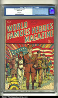 Golden Age (1938-1955):Non-Fiction, World Famous Heroes Magazine #1 (Centaur, 1941) CGC FN/VF 7.0Off-white pages. Not a book one sees every day, this dazzling,...