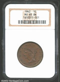 Large Cents: , 1842 1C Large Date MS65 Brown NGC. The current Coin Dealer ...