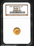 Commemorative Gold: , 1903 $1 Louisiana Purchase/McKinley MS65 NGC. The latest ...