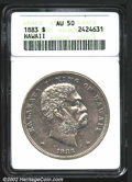 Coins of Hawaii: , 1883 $1 Hawaii Dollar AU50 ANACS. ...