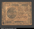 Colonial Notes:Continental Congress Issues, November 2, 1776, $7, Continental Congress Issue, CC-52, VF. A ...