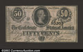 Confederate Notes:1864 Issues, 1864 50 Cents Bust of Jefferson Davis, T-72, CU. ...