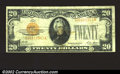 Small Size:Gold Certificates, 1928 $20 Gold Certificate, Fr-2402, Fine+. ...