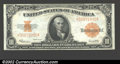 Large Size:Gold Certificates, 1922 $10 Gold Certificate, Fr-1173, Choice CU. If the margins ...
