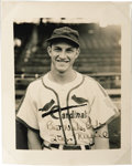 Autographs:Photos, 1944 St. Louis Cardinals Signed Photographs Lot of 25. Terrificcollection of individual portraits of the World Championshi...