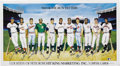 Autographs:Others, 500 Home Run Club Poster Signed by Eleven. The classic 1988 RonLewis artwork picturing the Elite Eleven, each magically in...