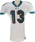 Football Collectibles:Uniforms, 1997 Dan Marino Game Worn Jersey. Another season atop the completions chart for this Hall of Fame quarterback in his fiftee...