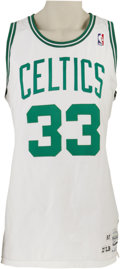 Basketball Collectibles:Uniforms, 1987-88 Larry Bird Game Worn Jersey. Perhaps it's the strong IrishCatholic history of Boston that makes it such a great sp...