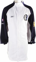 "Basketball Collectibles:Uniforms, 2006 Devin Harris NBA Finals Game Worn Warm-Up Jacket. Official""Reebok"" jacket was worn on the sidelines by the Dallas Uni..."