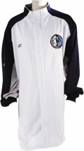 "Basketball Collectibles:Uniforms, 2006 Dirk Nowitzki NBA Finals Game Worn Warm-Up Jacket. The Germansuperstar forward suited up in this ""Reebok"" jacket on t..."