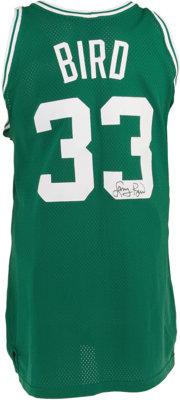 89bb556f397 1991-92 Larry Bird Game Worn Jersey. A thirteen-season Hall of