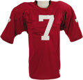 """Football Collectibles:Uniforms, Early 1980's John Elway Game Worn Stanford Jersey. Exceptional and highly desirable """"pre-rookie"""" gamer dates to this Hall o..."""