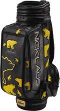 Golf Collectibles:Miscellaneous, 1990's Jack Nicklaus Tournament Used Golf Bag. Our consignor, a member of Ft. Worth, Texas' Colonial Country Club golf staf...