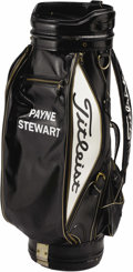 Golf Collectibles:Miscellaneous, 1980's Payne Stewart Tournament Used Golf Bag. U.S. Air Force pilots could do nothing but helplessly shadow the doomed Lear...