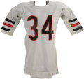 Football Collectibles:Uniforms, Mid-1980's Walter Payton Game Worn Jersey. When it comes to 1980's football jerseys, it doesn't get much sweeter than Sweet...