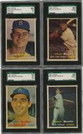 "Baseball Cards:Sets, 1957 Topps Baseball Complete Set (407). In 1957, Topps reduced thesize of its cards to the now-familiar 2-1/2"" x 3-1/2"". I..."
