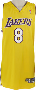 Basketball Collectibles:Uniforms, 2004-05 Kobe Bryant Game Worn Jersey. Now that most of us haveforgiven Kobe for his role in Shaq's departure, it's time--e...