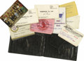 "Baseball Collectibles:Others, 1960's Joe DiMaggio Personally Owned Wallet with Contents. Genuinealligator hide wallet by ""Gucci"" served the Hall of Fame..."