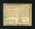 Colonial Notes:Rhode Island, Rhode Island July 2, 1780 $1 Very Choice New. This is a lovely gemnote with great signatures, crackerjack embossing and exc...