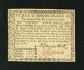 Colonial Notes:Rhode Island, Rhode Island July 2, 1780 $2 Very Choice New. This is a lovelyexample of this issue that is a crackling fresh and well embo...