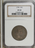 Early Quarters: , 1796 25C XF40 NGC. NGC Census: (4/73). PCGS Population (7/89).Mintage: 6,146. Numismedia Wsl. Price for NGC/PCGS coin in X...