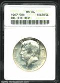 "Kennedy Half Dollars: , 1967 50C MS64 ANACS. The latest Coin World ""Trends"" price is ..."