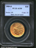 """Indian Eagles: , 1909-D $10 AU50 PCGS. The latest Coin World """"Trends"""" price ..."""