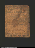 Colonial Notes:Continental Congress Issues, February 17, 1776, $1/2, Continental Congress Issue, CC-21, VG....