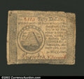 Colonial Notes:Continental Congress Issues, September 26, 1778, $50, Continental Congress Issue, CC-85, ...