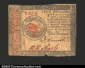 Colonial Notes:Continental Congress Issues, January 14, 1779, $4, Continental Congress Issue, CC-90, Fine. ...