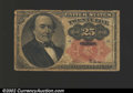 Fractional Currency:Fifth Issue, Fifth Issue 25c, Fr-1308, VG. There is a long vertical split ...