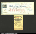 Miscellaneous:Checks, A pair of Wells, Fargo & Co. items, including a check from ...